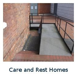 Care and Rest Home Button Disabled Access Button